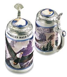 Anheuser Busch American Bald Eagle Series Winter Stein