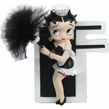 Betty Boop Letter F Figurine