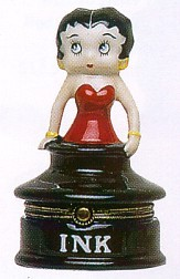 Betty Boop Inkwell Porcelain Clasp Box