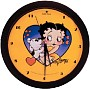 Betty Boop Heart With Yellow Background Wall Clock