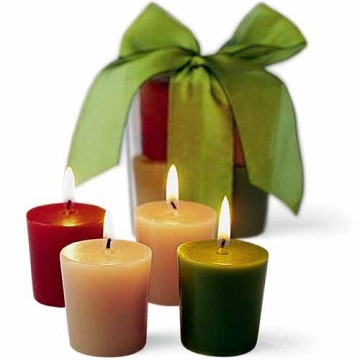 Island Palms Votive Candles Set