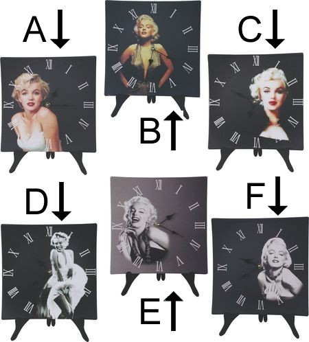 Marilyn Monroe Wall Or Desk Clock
