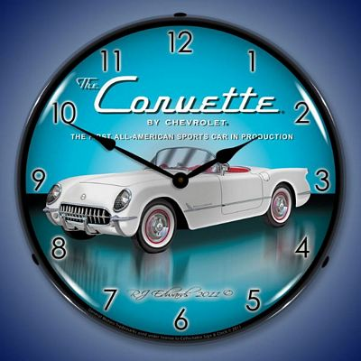 1953 Corvette Lighted Wall Clock