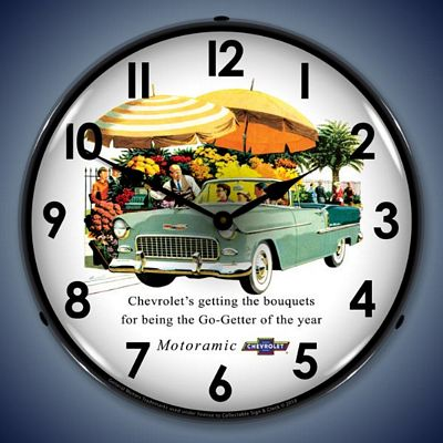 1955 Bel Air Convertible Lighted Wall Clock