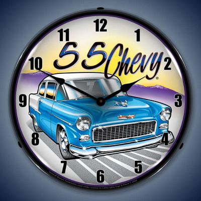 1955 Chevy Lighted Wall Clock