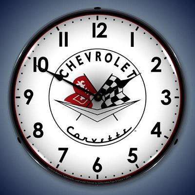 1956-1957 Corvette Lighted Wall Clock