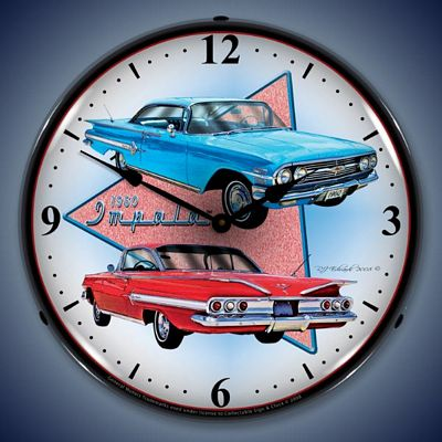1960 Impala Lighted Wall Clock