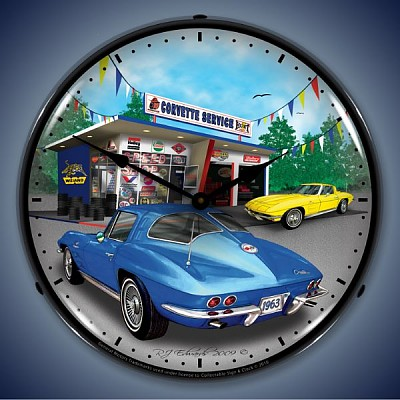 1963 Corvette Lighted Wall Clock