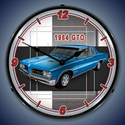 1964 Pontiac GTO Lighted Wall Clock