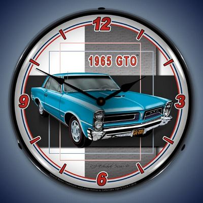 1965 Pontiac GTO Lighted Wall Clock
