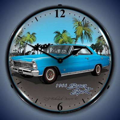 1966 Nova Super Sport Lighted Wall Clock