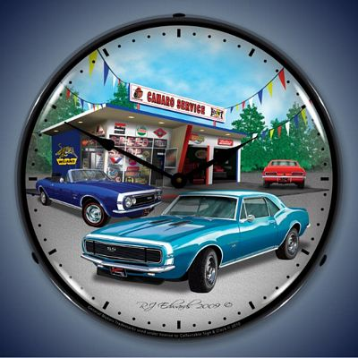 1967 Camaro Lighted Wall Clock