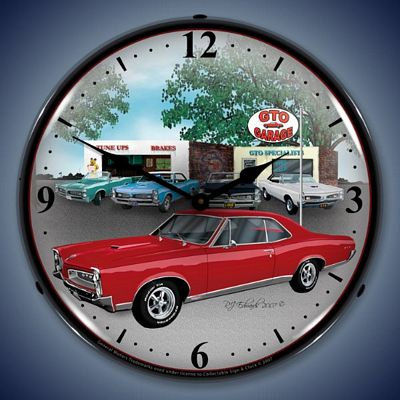 1967 Pontiac GTO Lighted Wall Clock