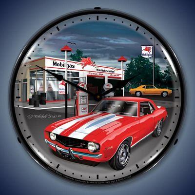 1969 Camaro Lighted Wall Clock