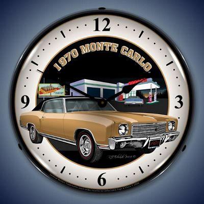 1970 Monte Carlo Lighted Wall Clock