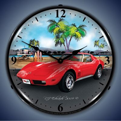 1973 Corvette Lighted Wall Clock