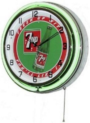 7up Double Neon Wall Clock