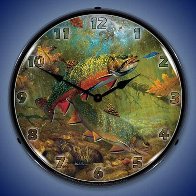 American Beauties Trout By Mark Susinno Lighted Wall Clock