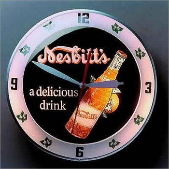 Nesbitt's Double Bubble Retro Style Clock By American Retro