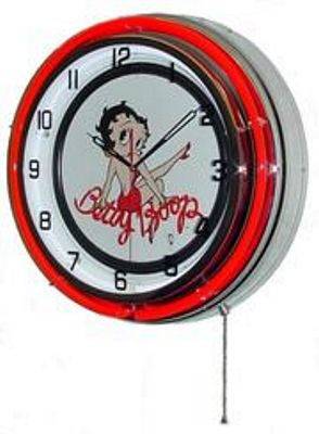 Betty boop double neon wall clock bettyboop for Betty boop neon wall clock