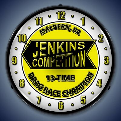 Jenkins Competition Lighted Wall Clock