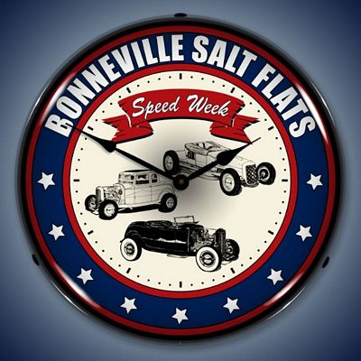 Bonneville Salt Flats Speed Week Lighted Wall Clock