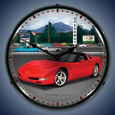C5 Corvette Raceway Lighted Wall Clock
