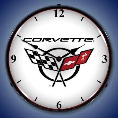 C5 Corvette Version 2 Lighted Wall Clock