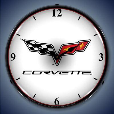 C6 Corvette Lighted Wall Clock C6corvette