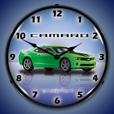 Camaro G5 Synergy Green Lighted Wall Clock