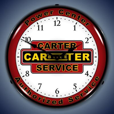 Carter Carburetor Service Lighted Wall Clock