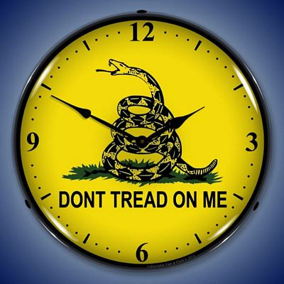 Dont Tread On Me Lighted Wall Clock
