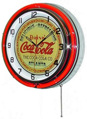 Drink Coca-Cola Double Neon Wall Clock