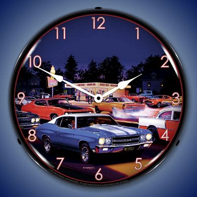 Bruce Kaiser Fast Freds Lighted Wall Clock
