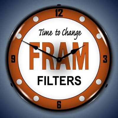 Fram Filters Lighted Wall Clock