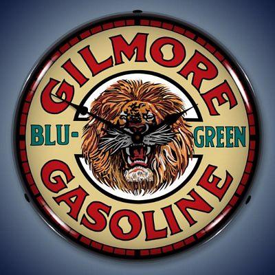 Gilmore Gasoline Lighted Wall Clock - GILMOREGAS