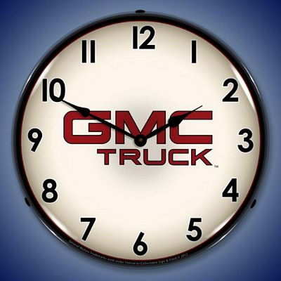 GMC Truck Lighted Wall Clock