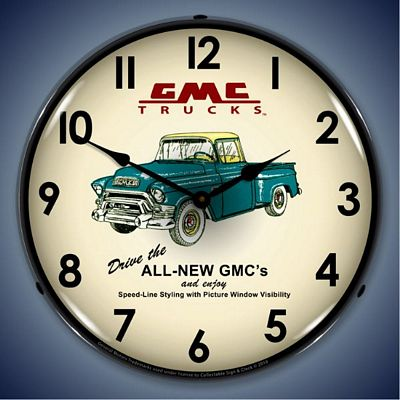 GMC Trucks 1956 Lighted Wall Clock