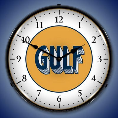 Gulf 1920 Lighted Wall Clock