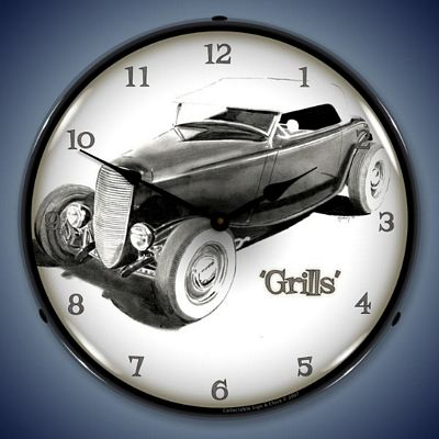 Grills Lighted Wall Clock