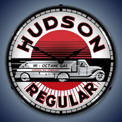 Hudson Gasoline Lighted Wall Clock