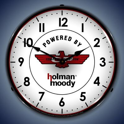 Holman Moody Lighted Wall Clock