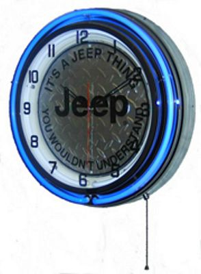 Its A Jeep Thing Double Neon Wall Clock