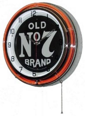 Jack Daniels Old No 7 Double Neon Wall Clock