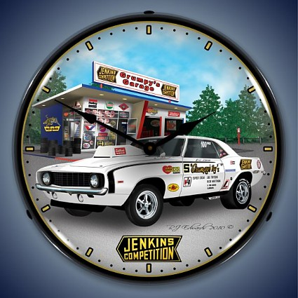1969 Jenkins Camaro Lighted Wall Clock