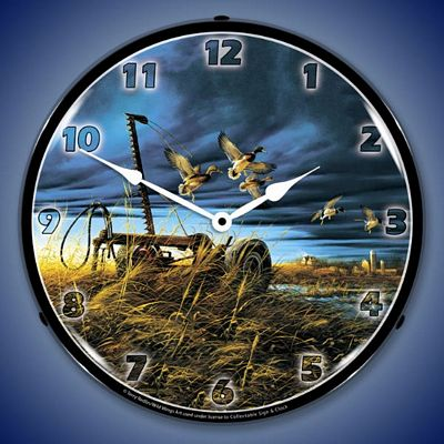 Landmark Mallards By Terry Redlin Lighted Wall Clock