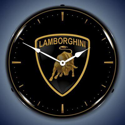Lamborghini Lighted Wall Clock Lamborghini