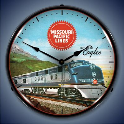 Missouri Pacific Lines Lighted Wall Clock