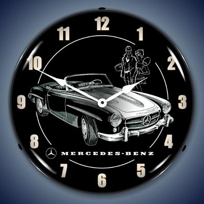 Mercedes benz lighted wall clock mercedes for Mercedes benz clock