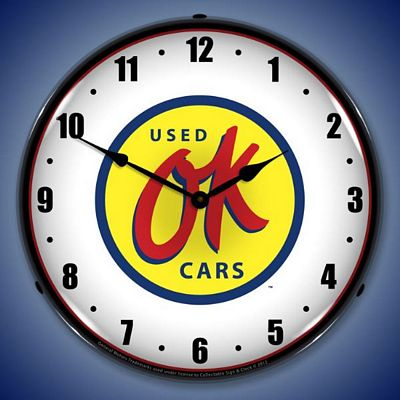 OK Used Cars Lighted Wall Clock